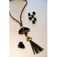 Agate Tassel Necklace