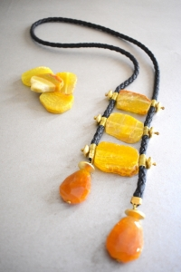Agate Ladder Necklace