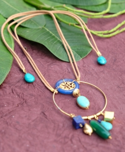 Breath of Life Necklace - Blue